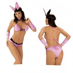 Kostým Play boy bunny L-XL/Pink králík