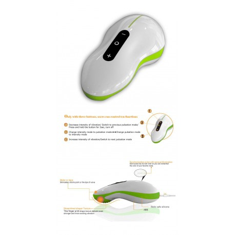 Mouse Massager green / white
